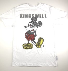 KINGSWELL KINGSWELL MOUSE EYE S/S TEE - WHITE