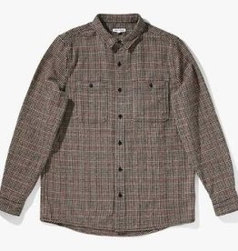 BANKS JOURNAL BANKS SOMEDAYS HOUNDSTOOTH L/S BUTTON - CAROB