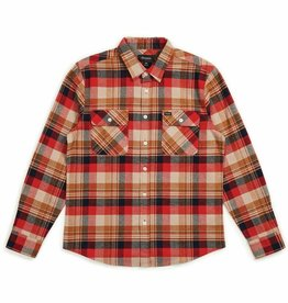 BRIXTON BRIXTON BOWERY L/S FLANNEL - RED/COPPER