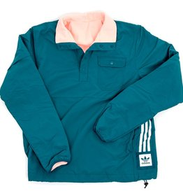 ADIDAS ADIDAS REVERSIBLE SNAP JACKET - GREEN/PINK