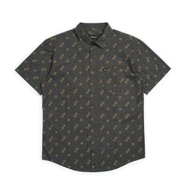 BRIXTON BRIXTON CHARTER PRINT S/S WOVEN - WASHED BLACK/COPPER