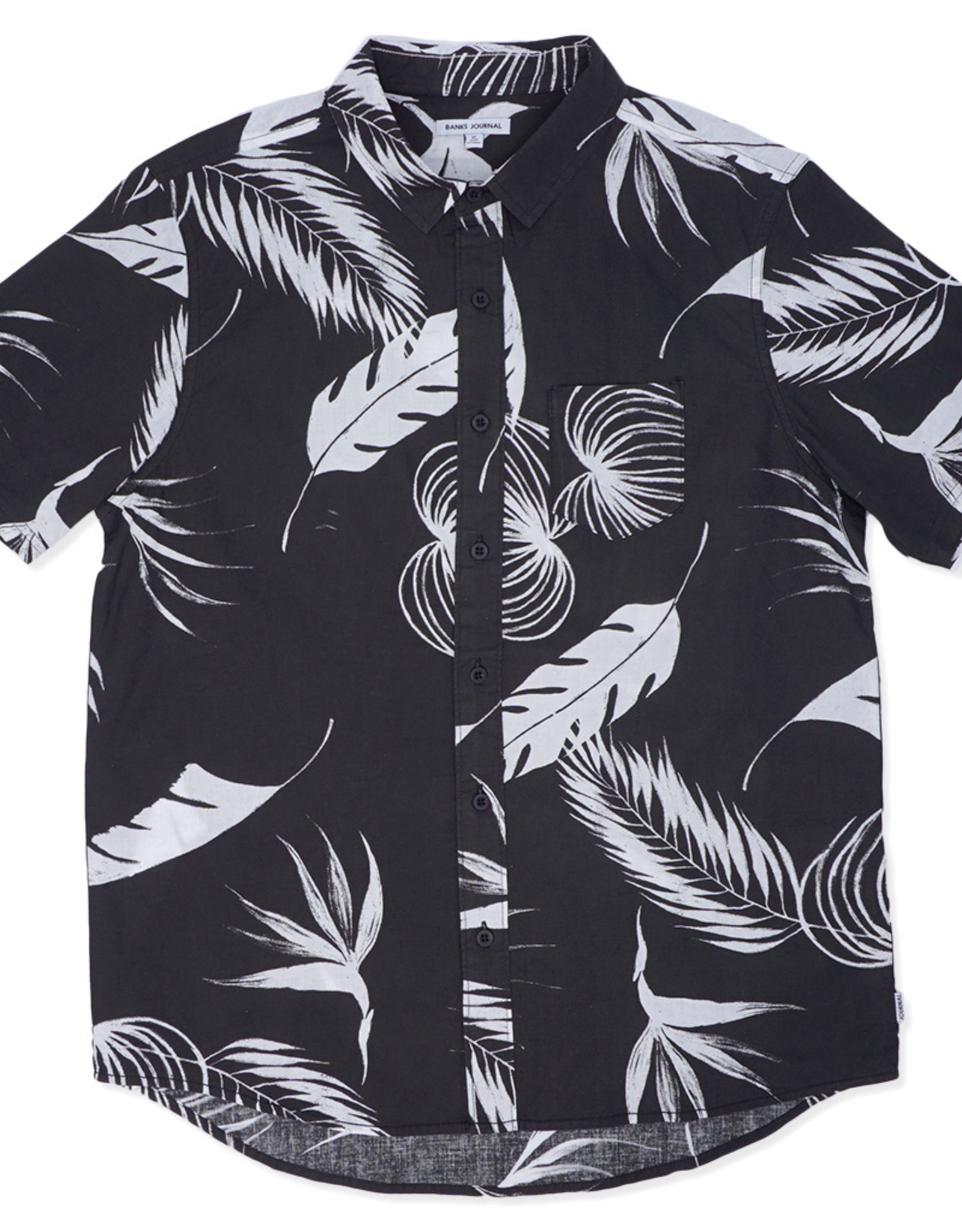 BANKS JOURNAL BANKS JOURNAL PRODUCE S/S BUTTON - DIRTY BLACK