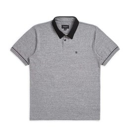 BRIXTON BRIXTON CARLOS S/S POLO - HEATHER GREY/BLACK