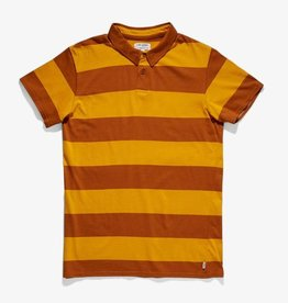 BANKS JOURNAL BANKS VIBES S/S POLO - TOBACCO
