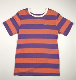 SML STRIPED OG TEE - PURPLE/PINK