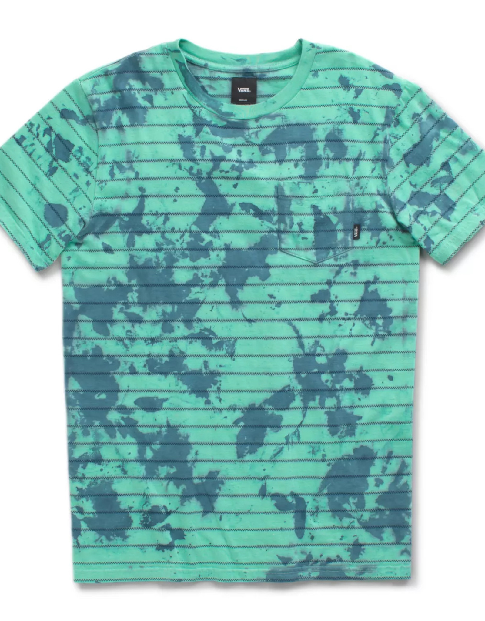 VANS VANS TIEDYE CHECKER S/S TEE - DUSTY JADE/GREEN