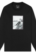 POLAR KIDNEY L/S TEE - BLACK