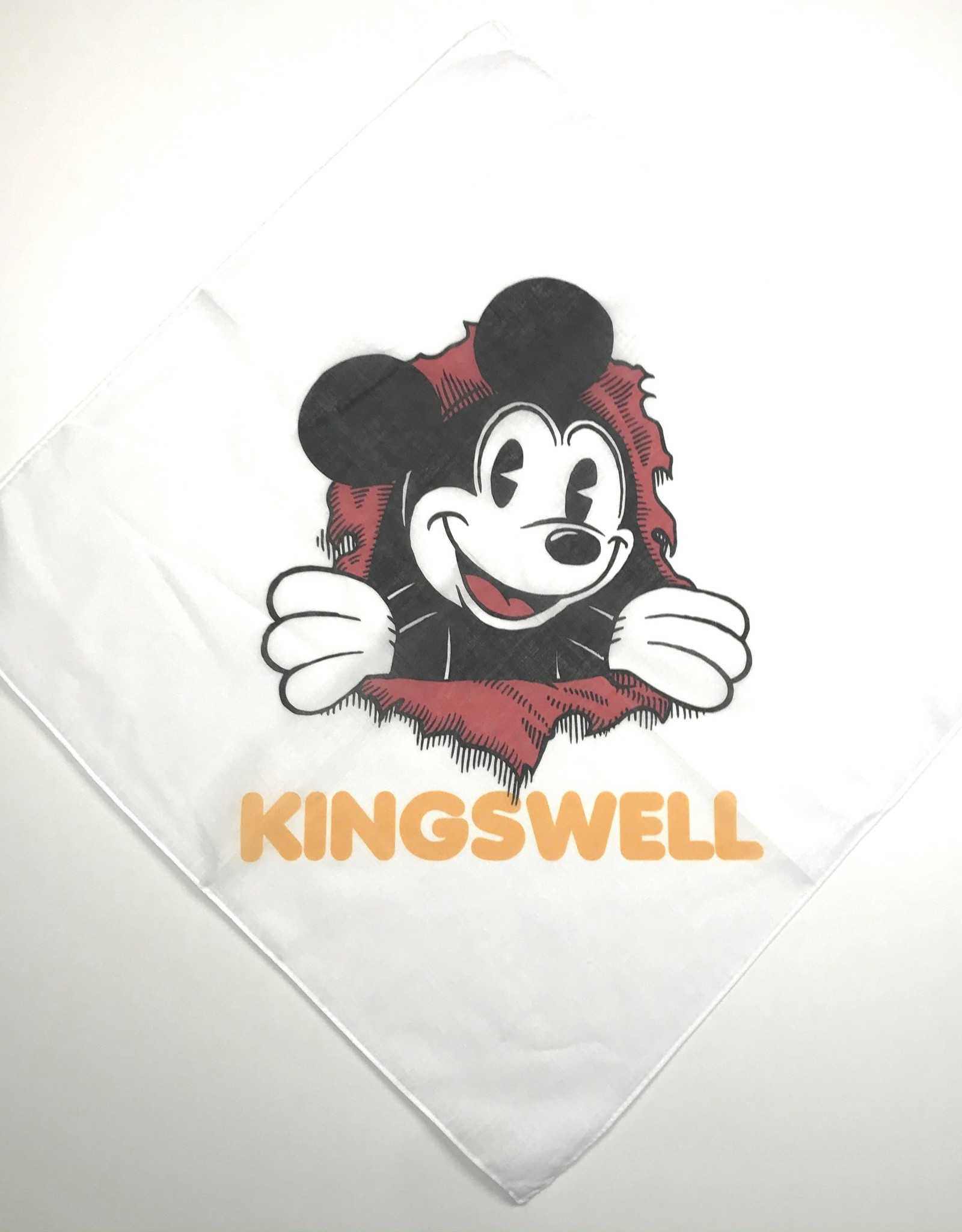 KINGSWELL KINGSWELL MOUSE RIPPER BANDANA - WHITE