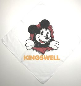 KINGSWELL KINGSWELL MICKEY RIPPER BANDANNA - WHITE