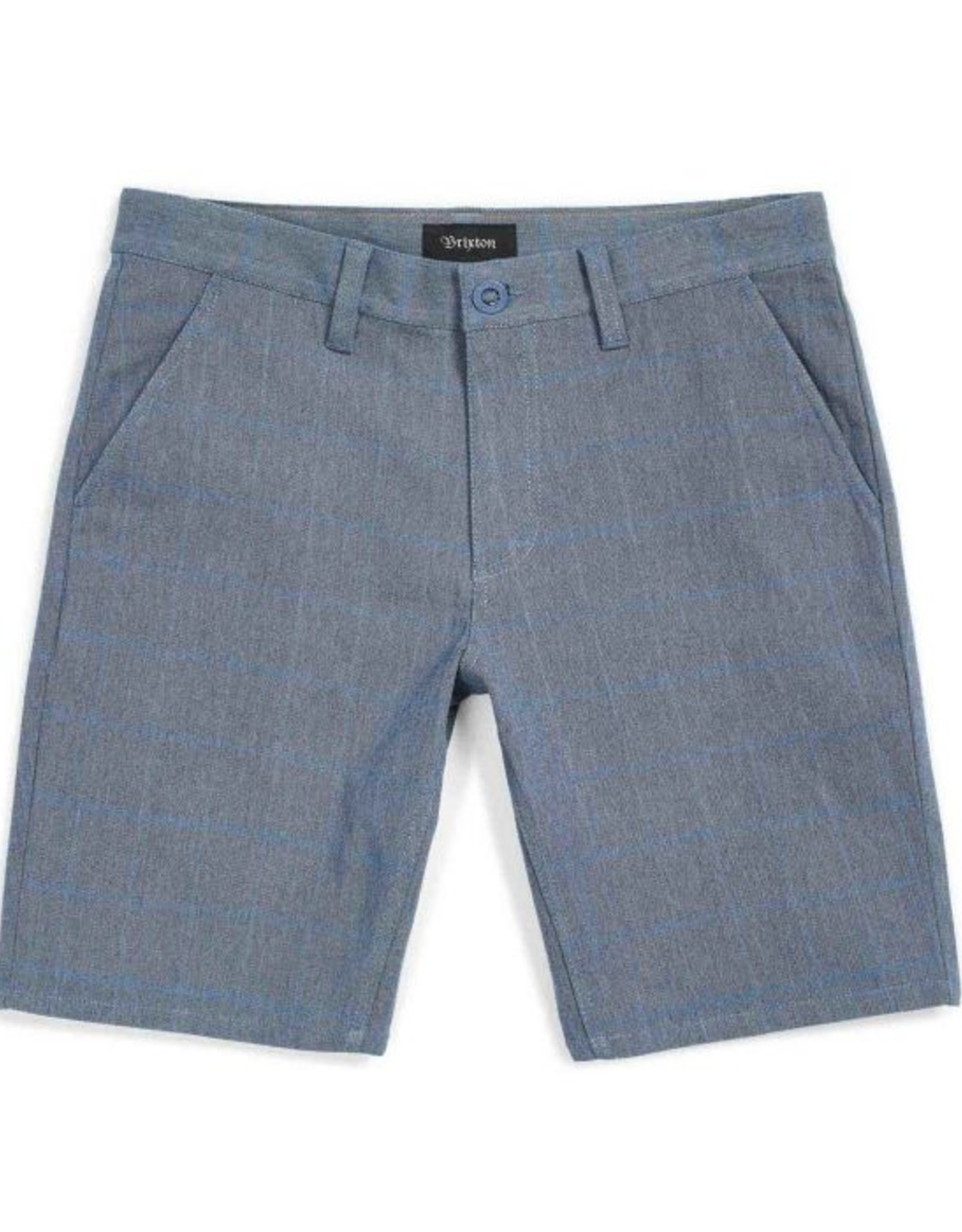 BRIXTON BRIXTON TOIL 2 HEMMED SHORT - LIGHT BLUE PLAID