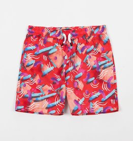 THE QUIET LIFE GIBBLER BEACH SHORT - RED
