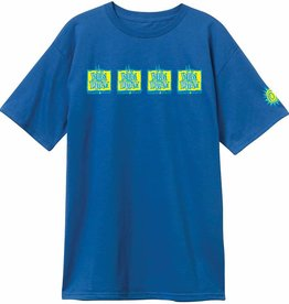 THE NEW DEAL THE NEW DEAL ORIGINAL NAPKIN 4 BAR S/S TEE - ROYAL BLUE