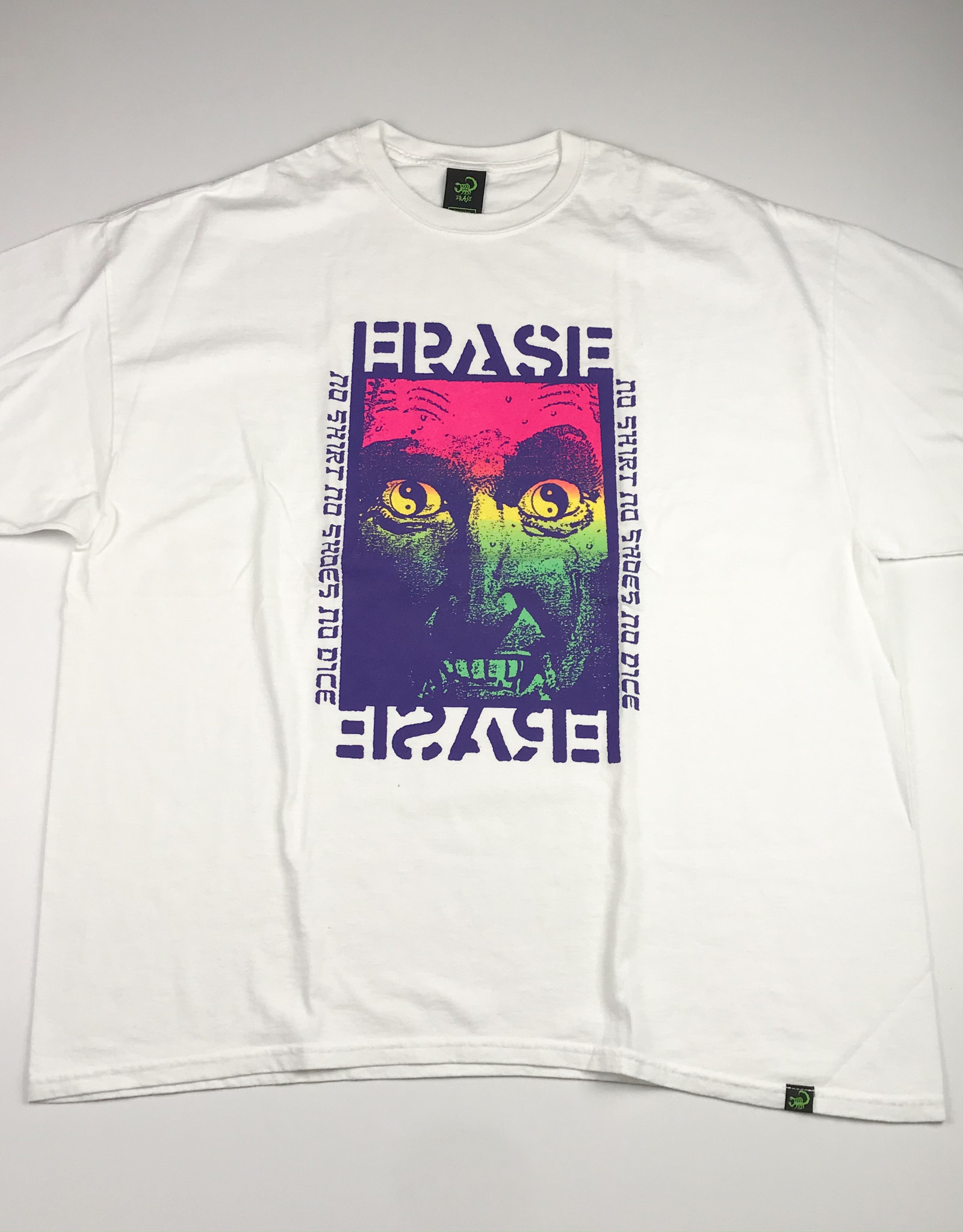 ERASE NO SHIRT TEE - WHITE