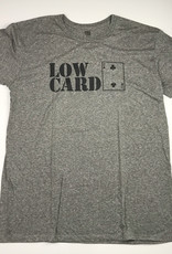 LOWCARD STACKED LOGO SOFT TEE - HEATHER
