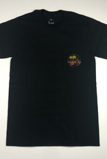 THE ROAD IS LIFE SUMMERTIME POCKET TEE - BLACK