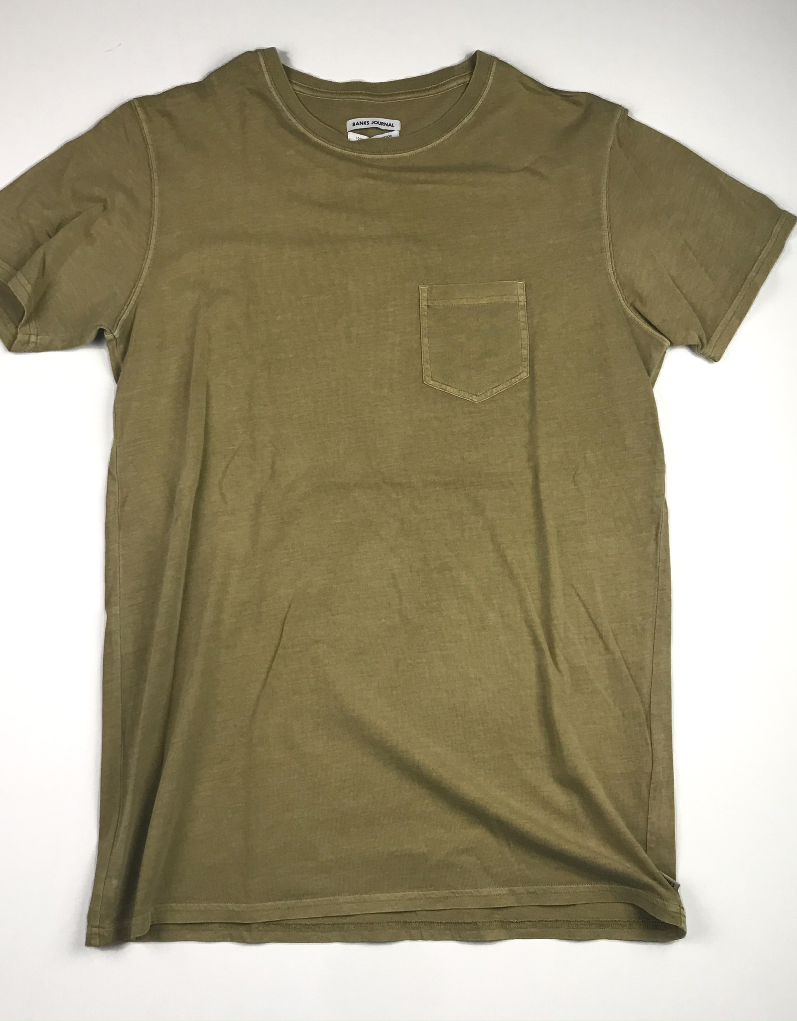 BANKS JOURNAL PRIMARY FADED S/S TEE - SAND - MEDIUM