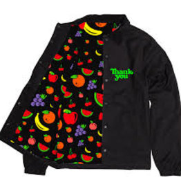 THANK YOU SKATEBOARDING THANK YOU FRUIT SALAD COACH JACKET - BLACK