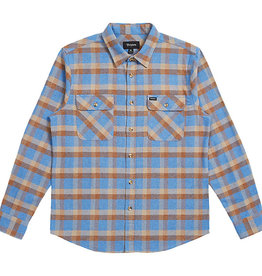 BRIXTON BRIXTON BOWERY L/S FLANNEL - RIVER BLUE