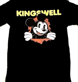 KINGSWELL KINGSWELL MOUSE RIPPER TEE - BLACK
