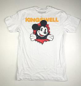 KINGSWELL KINGSWELL MOUSE RIPPER TEE - WHITE