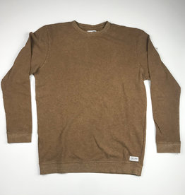 BANKS JOURNAL BANKS VISION TRANSSEASONAL L/S FLEECE - BURNT KHAKI