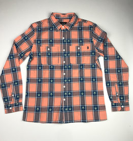 HUF PLANTLIFE PLAID L/S BUTTON - SMOKED PEACH