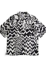 POLAR SUMMER ART SHIRT S/S BUTTON - BLACK/WHITE