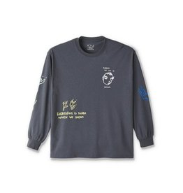 POLAR NOTEBOOK L/S TEE - GRAPHITE