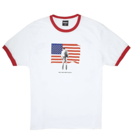 HOCKEY PATRIOT RINGER TEE - WHITE