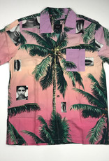 HUF MOLLY RESORT S/S BUTTON - CORAL PINK