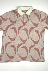 POLAR PATTERNED S/S POLO - IVORY/RED - LARGE