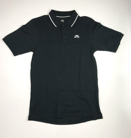 NIKE NIKE SB DRY POLO T-SHIRT - BLACK - SMALL