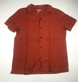 BANKS JOURNAL BANKS NASHUA S/S BUTTON - BURNT ORANGE