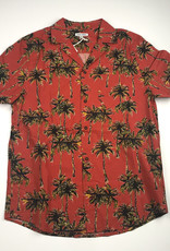 BANKS JOURNAL BANKS PALMBEACH S/S BUTTON - WASHED RED