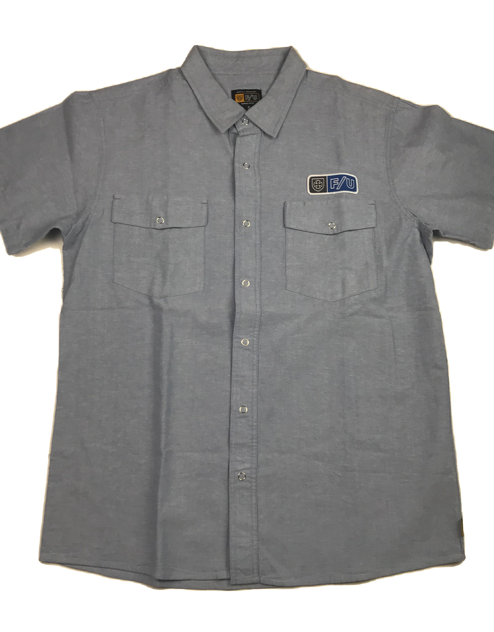 BRIXTON BRIXTON  S/S BUTTON - OFFICER INDY LT BLUE