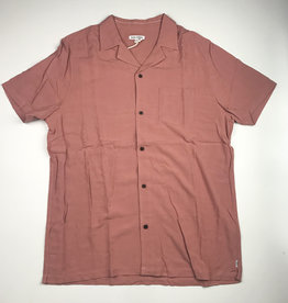 BANKS JOURNAL BANKS NASHUA S/S BUTTON - OLD ROSE