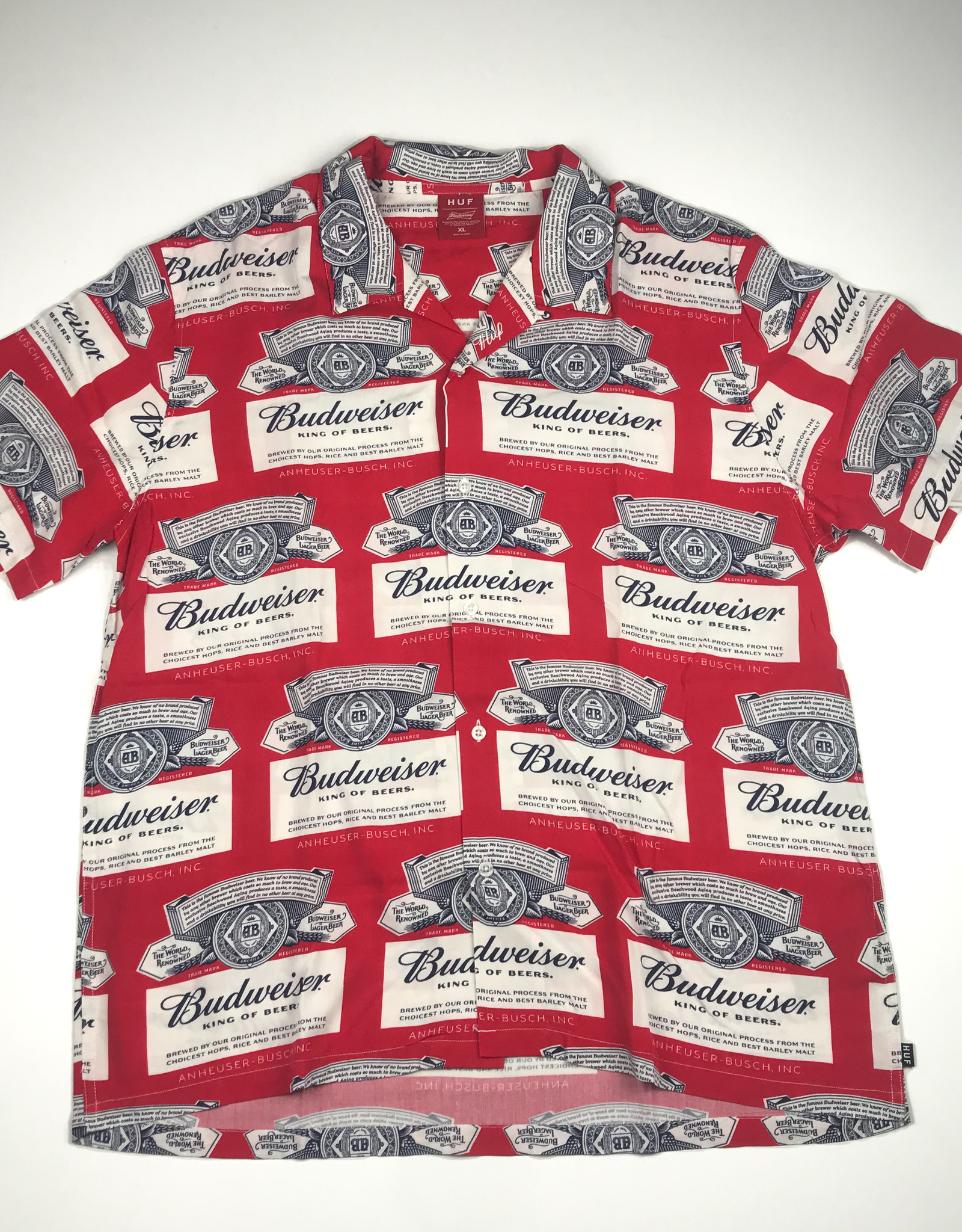 HUF X BUDWISER LABEL S/S BUTTON