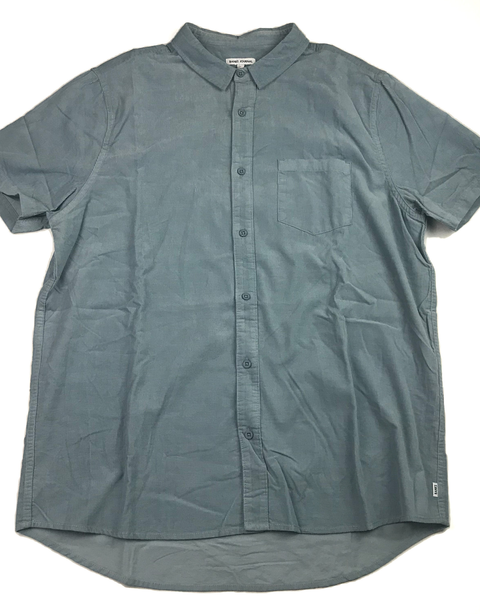 BANKS JOURNAL BANKS ROY S/S BUTTON - DUST BLUE