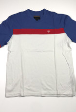 BRIXTON BRIXTON SUBSTANCE KNIT TEE - WHITE/ROYAL