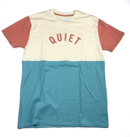 QUIET LIFE BLOCK TEE CREAM/TURQUOISE