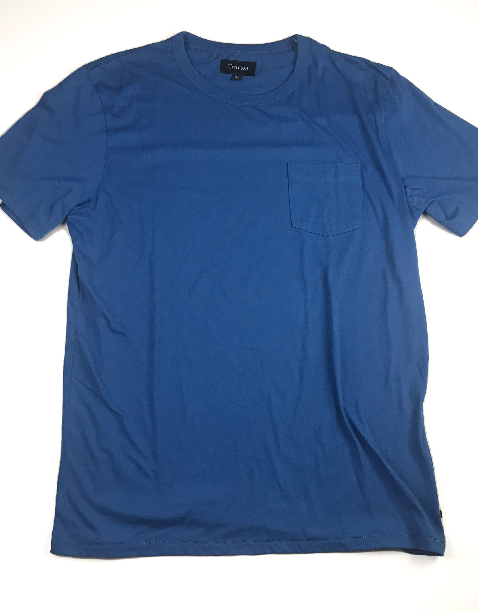 BRIXTON BRIXTON POGUE TEE - WASHED ROYAL