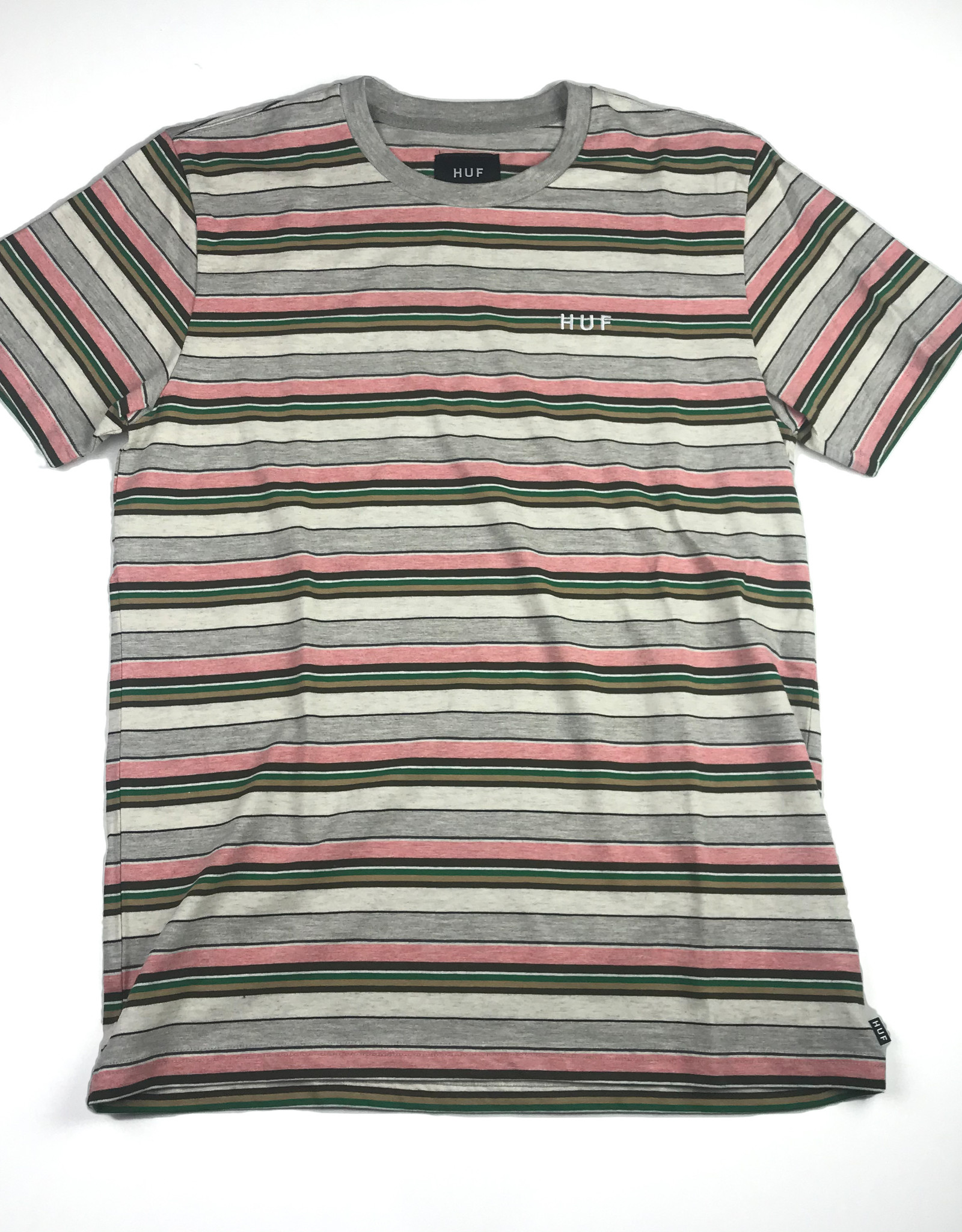 HUF OFF SHORE STRIPE TEE - PINK