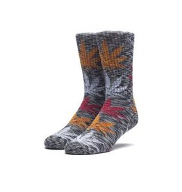 HUF MELANGE PLANTLIFE SOCK - BLACK/MULTI