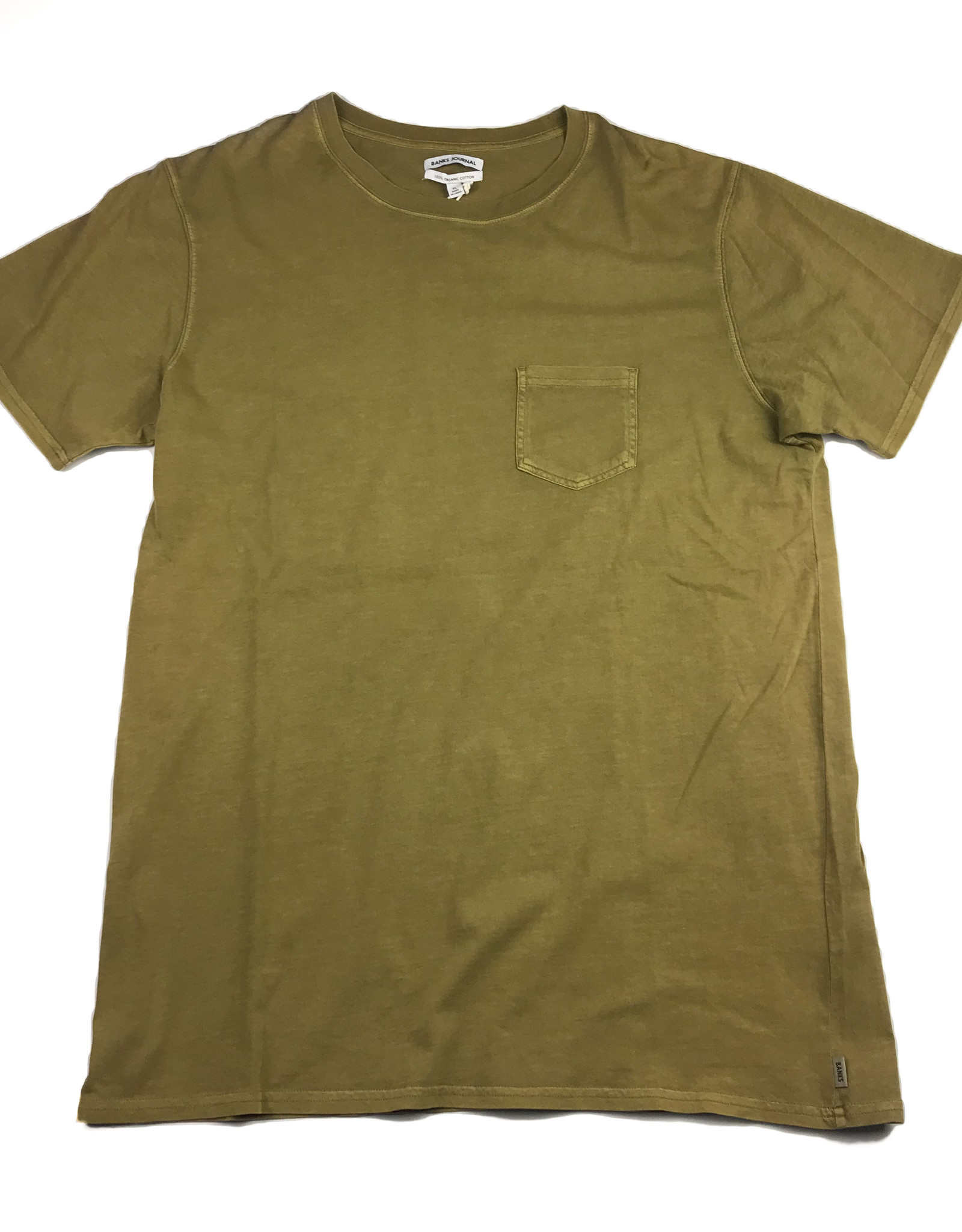 BANKS JOURNAL BANKS PRIMARY FADED TEE - OLIVE GREEN