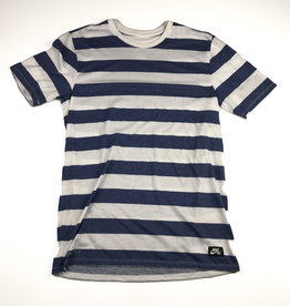 NIKE NIKE DRI FIT SS STRIPED TEE NAVY/WHITE