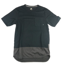 NIKE NIKE DRI-FIT TEE - BLACK/GREY BOTTOM