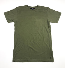 BANKS JOURNAL BANKS STAPLE TEXTURE TEE - LODEN GREEN