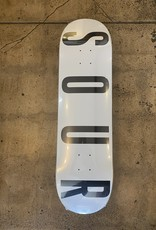 SOUR SKATEBOARDS SOUR SOLUTION WHITE LOGO DECK - 8.5