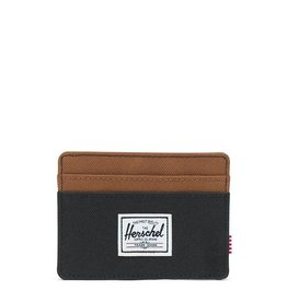 HERSCHEL HERSCHEL CHARLIE WALLET - BLACK/SADDLE