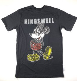 KINGSWELL KINGSWELL MOUSE EYE S/S TEE - BLACK